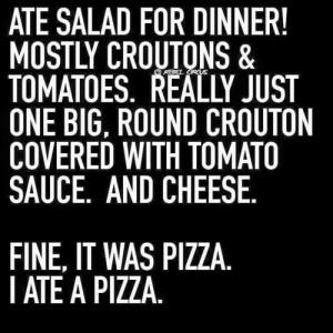 Pizza Salad Meme