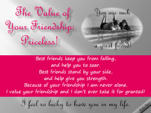 friendship quote Value your friendship Value your relationships