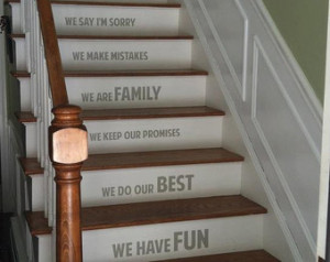 In our home STAIRS stairway Vinyl D ecal Vinyl Decal Home Decor Door ...