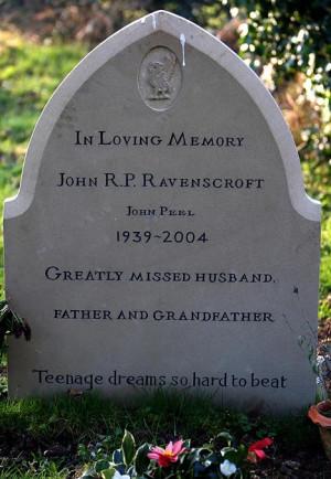 ... wife grants his final wish with Teenage Kicks lyric on his gravestone