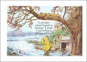 Winnie The Pooh in The Rain Quote