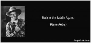 Gene Autry Quote