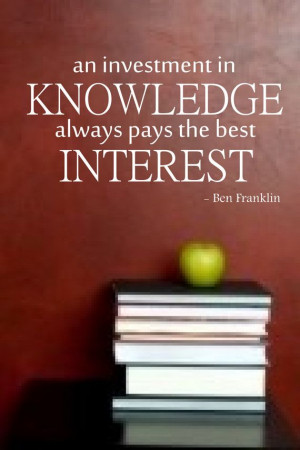 ... Franklin Quotes, Vinyls Wall Decals, Quotes About Education, High