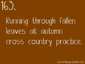Cross Country Running Quotes And Sayings Running through fallen leaves