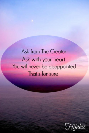 ... from Allah & If you were to seek help, seek help only from Allah
