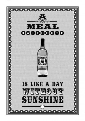 Wine Quote Poster A Meal Without Wine Proverb by oflifeandlemons, $16 ...