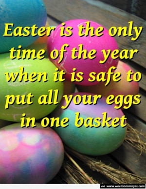 Funny easter quote with eggs