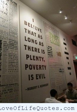 Robert F. Kennedy quote on poverty