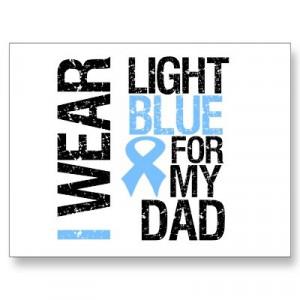 Prostate Cancer Light Blue Ribbon Dad