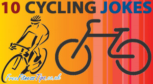 ... brand new fitness cartoon for you which contains 10 Cycling Jokes