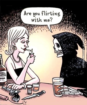 Funny Picture - Death at a bar - Are you flirting with me?