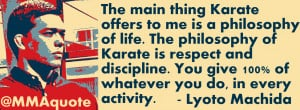 Lyoto Machida on what Karate offers to him