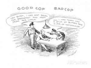 Good Cop Bad Cop - New Yorker Cartoon Premium Giclee Print