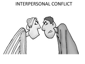 Conflict Images Interpersonal conflict?