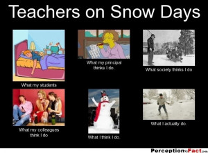 Teachers on Snow Days... - What people think I do, what I really do ...