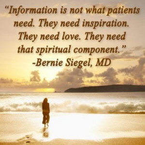 Bernie Siegel, MD, one of the top teachers of spirituality in medicine ...
