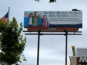 Alabama ministry uses Hitler quote in shocking billboard: 'He alone ...