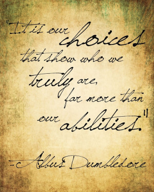Albus Dumbledore Quote from Harry Potter
