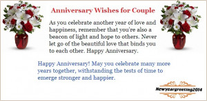 We have great collection of Happy Wedding Anniversary Wishes to a ...