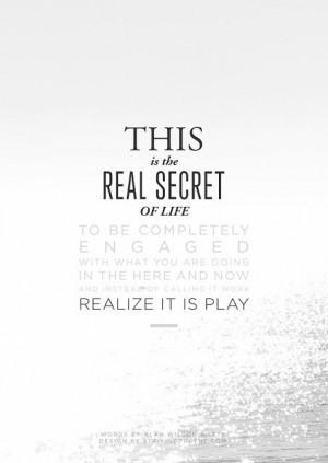 the real secret of life / alan watts