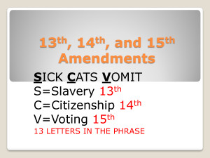 13th 14th And 15th Amendments picture