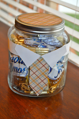 26. Father's day Candy Jar ~ A great way to dress up any container to ...
