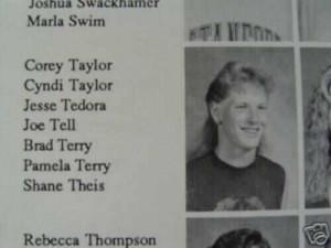 corey taylor in 92 high school year book