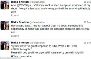 Blake Shelton Funny Tweets Hilarious: blake didn't take