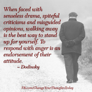 is the best way to stand up for yourself to respond with anger is an ...