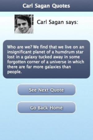 View bigger - Carl Sagan Quotes for Android screenshot