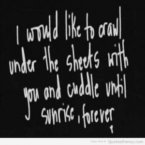life cute love cuddling Quotes