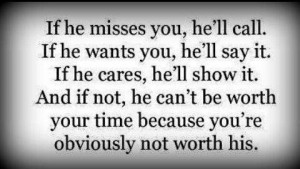 he's not worth it...