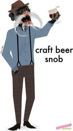 craft beer snob from hipster animals | best stuff