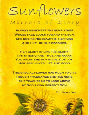 ... : Mirrors of GloryMirrors, Glories, Menu, Gayle Orf, Sunflowers Poems
