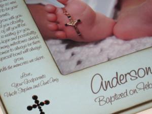 Personalized Baptism Christening Gift For Godchild / Godson ...