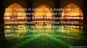 Top Quotes About Harlem Renaissance