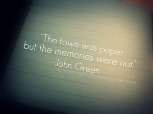 memories, paper, quotes, text, town, typography