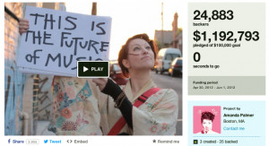 Amanda Palmer kickstarter campaign