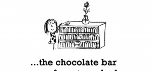 Happiness is, the chocolate bar you forgot you had.