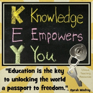 Quotes about education by Oprah Winfrey