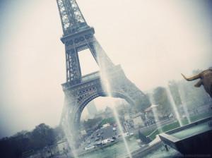 eiffel tower, fog, france, linda-mari, paris, water