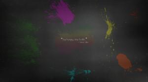 apple inc quotes paint rainbows splatter steve jobs simplistic simple ...