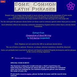 Common Latin Phrases in Law