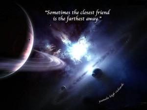 Space Planet Galaxies Blue pamela quote