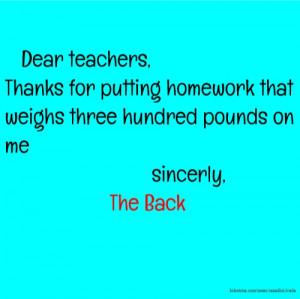 Dear teachers Thanks for