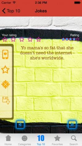 View bigger - Yo Mama - Best New Jokes & Sayings! for iPhone ...