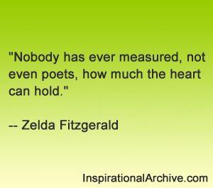 Zelda Fitzgerald quote on Measuring love