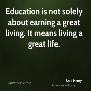 Education Not Solely About