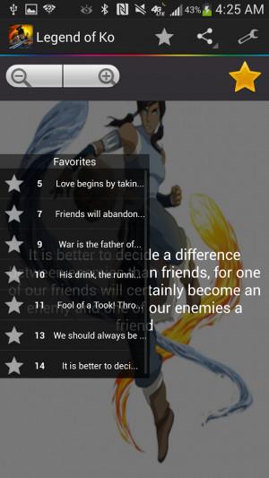 Legend of Korra Quotes 1.0 screenshot 1