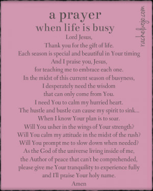 prayer for when life is busy